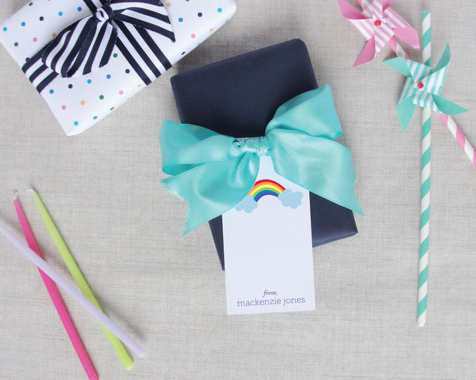 Personalized Rainbow Gift Tags