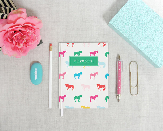 Rainbow Horses Hardback Journal