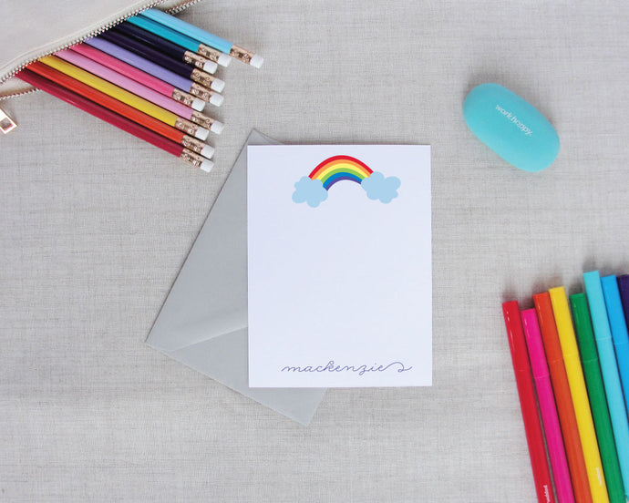 Rainbow Personalized Stationery Set