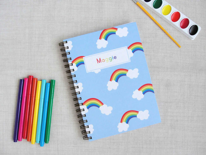Rainbow Hardback Spiral Journal