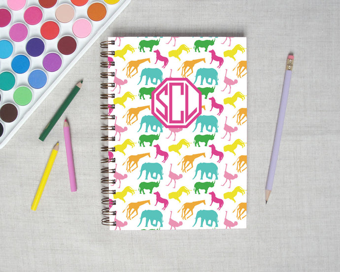 Safari Animal Hardback Spiral Journal