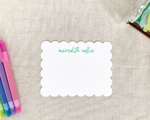 Personalized Scallop Edge Stationery