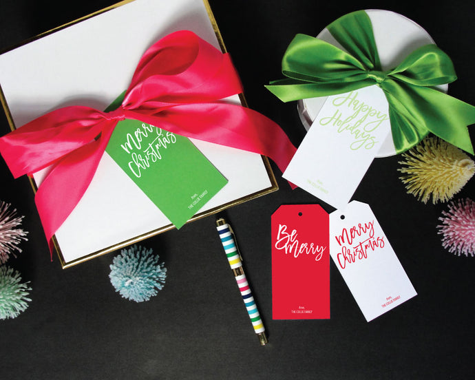 Calligraphic Holiday Gift Tags