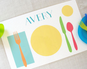 Learn to Set the Table Placemats | Meredith Collie Paper