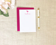 Load image into Gallery viewer, Signature Pink Flamingo Stationery / Flamingos for a Cure / Meredith Collie Paper