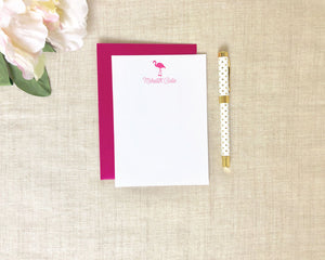 Signature Pink Flamingo Stationery / Flamingos for a Cure / Meredith Collie Paper