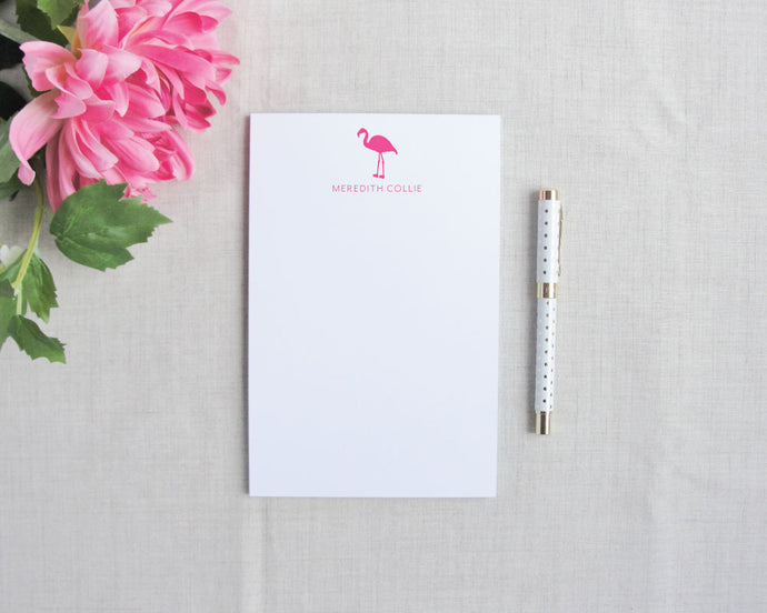Signature Pink Flamingo Notepad / Flamingos for a Cure / Meredith Collie Paper