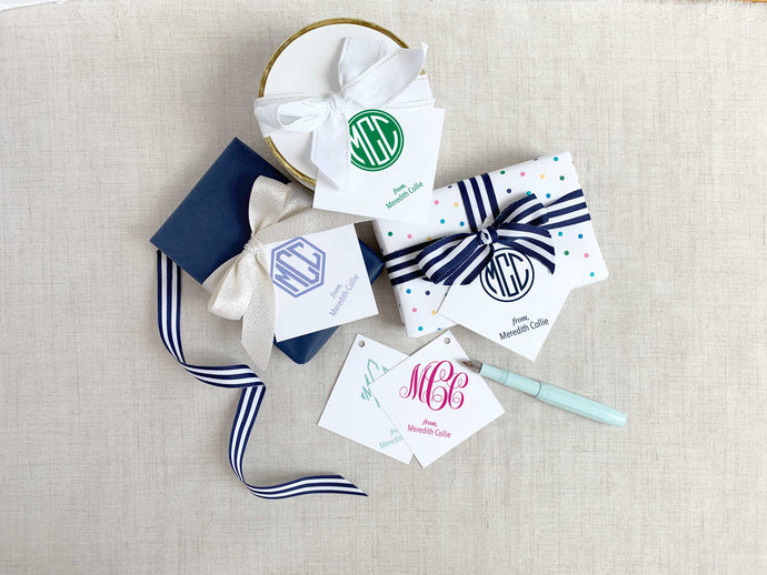 Monogram Square Gift Tags
