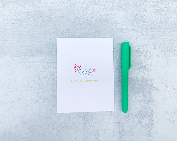 Floral Love You Bunches Greeting Card