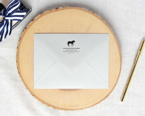 Simple Equestrian Silhouette Return Address Stamp