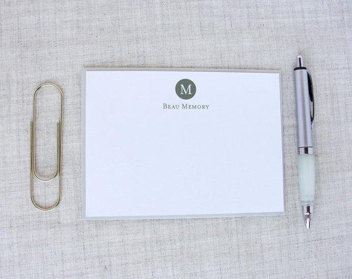 Single Initial Monogram Stationery | Meredith Collie Paper