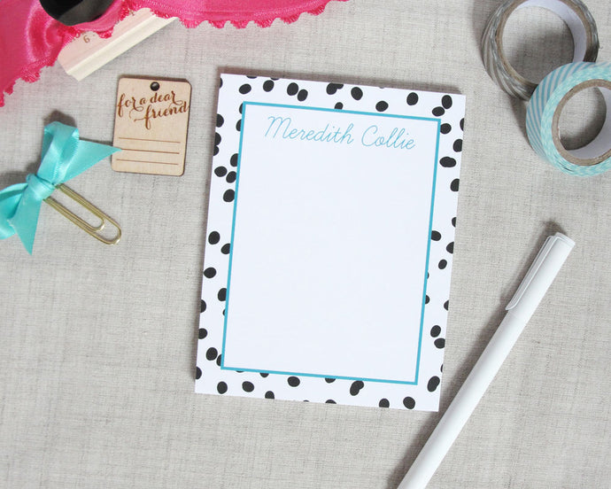 Well Spotted Personalized Notepad