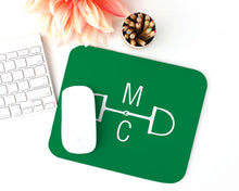 Load image into Gallery viewer, Equestrian Monogram Mousepad - Rectangle / Meredith Collie Paper