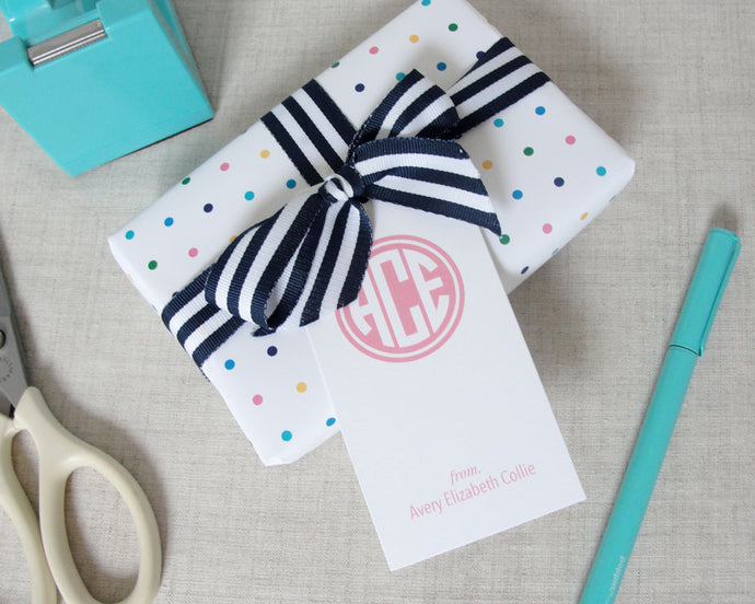 Monogram Gift Tags | Meredith Collie Paper