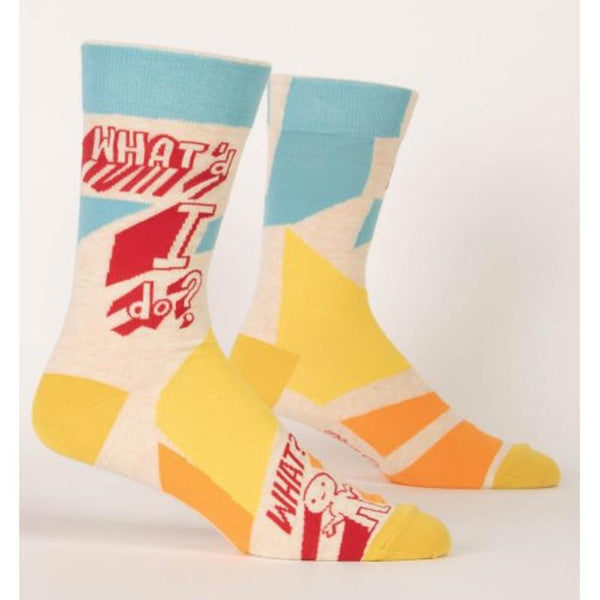 Blue Q Men's Crew Cotton Socks