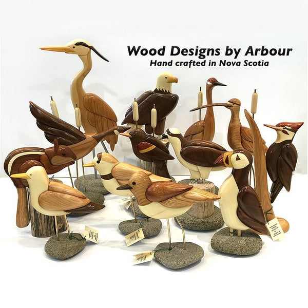 Wood Designs by Arbour Birds on Stand