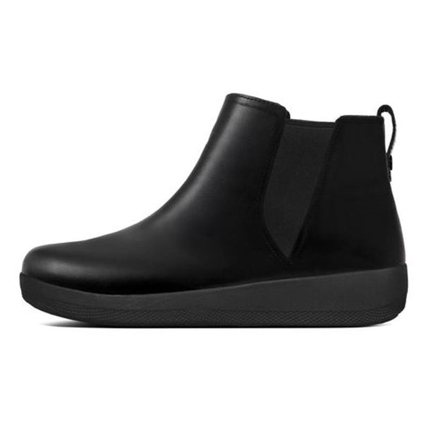 FitFlop SuperChelsea Leather Boot Black