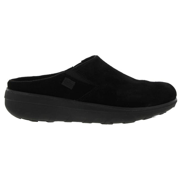 FitFlop Loaff Suede Clogs Black