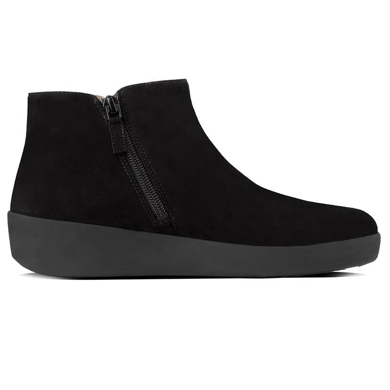6196fd2294f97e FitFlop Sumi Suede Ankle Boots - Black