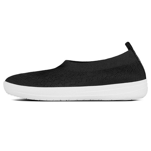 FitFlop Uberknit Slip On Ballerina Black
