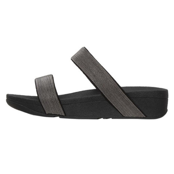 FitFlop Lottie Shimmer Mesh Slide Black