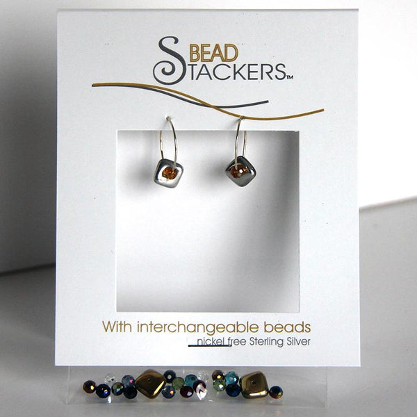 Bead Stackers Hoop with Chunky Square