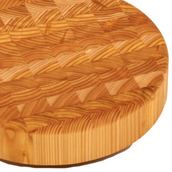 Larch Wood Round Cheese Cutting Board