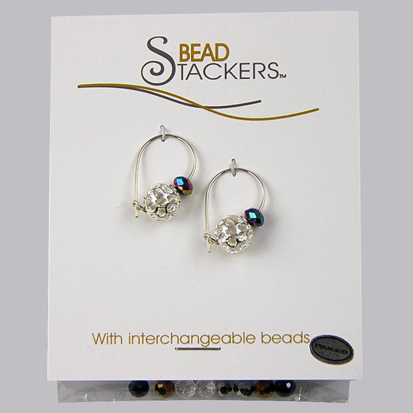 Bead Stackers Silver Ball Hoop