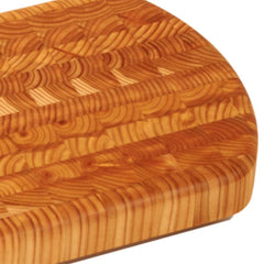 Larch Wood End Curve Cutting Board