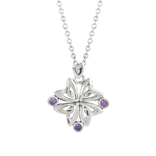 Necklace - Amethyst CZ Flower