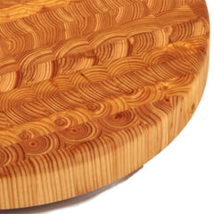Larch Wood Round Large Cutting Board