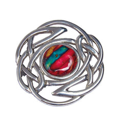 Heathergems Celtic Knot Broach