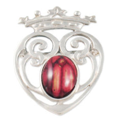 Heathergems Luckenbooth Sterling Silver Brooch SB10