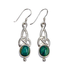 Heathergems Celtic Silver Earrings
