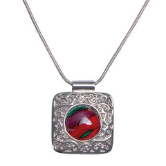 Heathergems Square Patterned Pendant