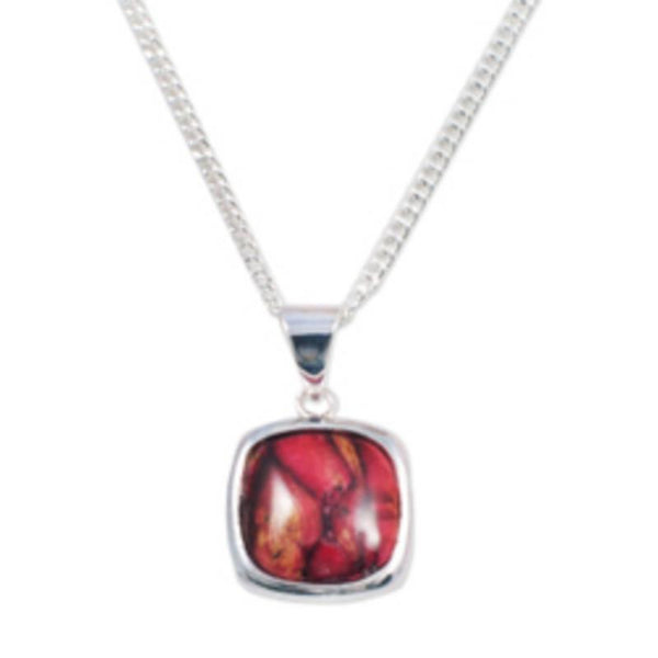 Heathergems Square Silver Plated Pendant HP56