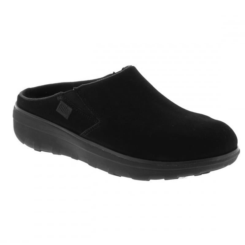 289323db7 FitFlop Loaff Suede Clogs Black