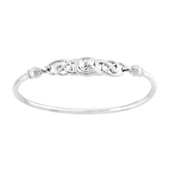 Boudicca Bangle - Crystal Celtic Knot