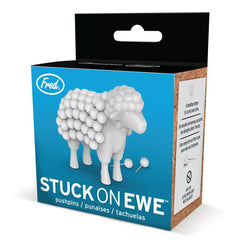 Fred Stuck on Ewe Pushpins & Holder