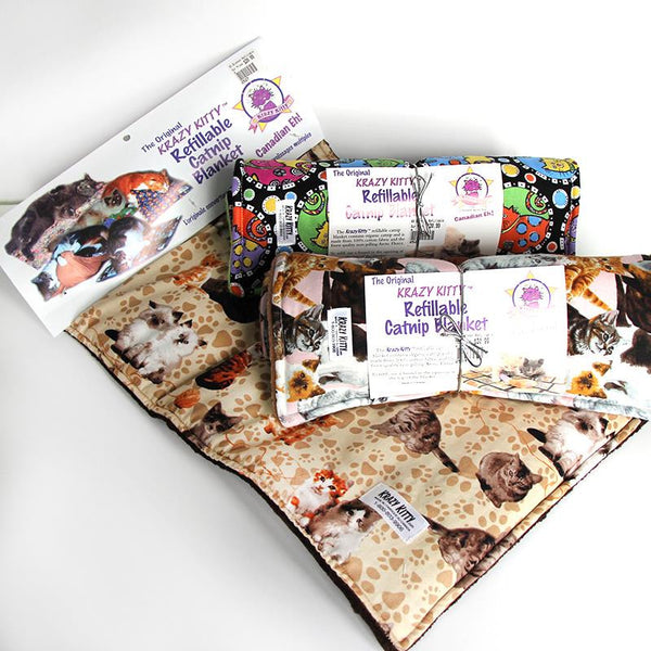Krazy Kitty Cat Nip Blanket