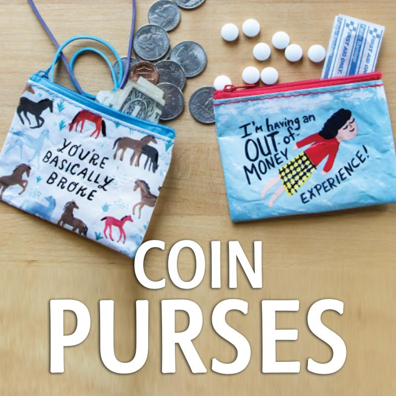 Blue Q Coin Purse Various Sayings