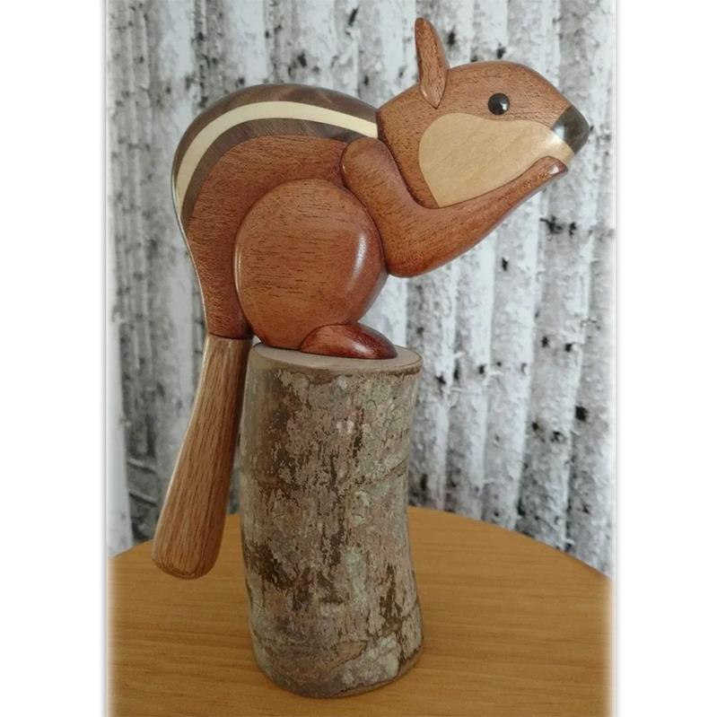 Wood Designs by Arbour Wood Chipmunk on Stand