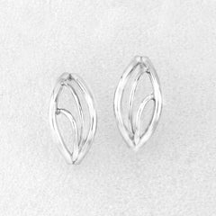 Constantine Designs Flame Stud Earrings Silver