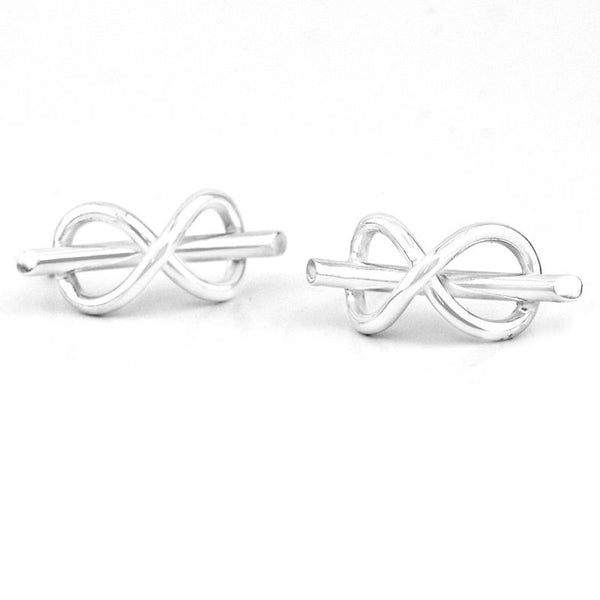 Constantine Designs Infinity Studs Silver