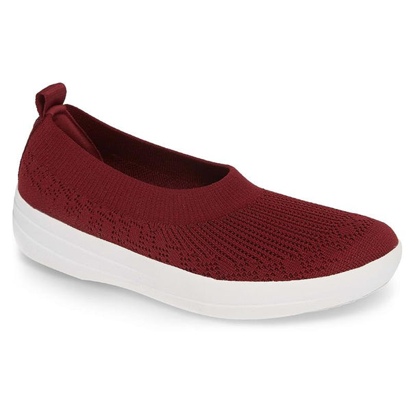 FitFlop Uberknit Slip-on Ballerina - Berry