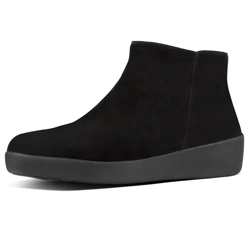 FitFlop Sumi Suede Ankle Boots - Black