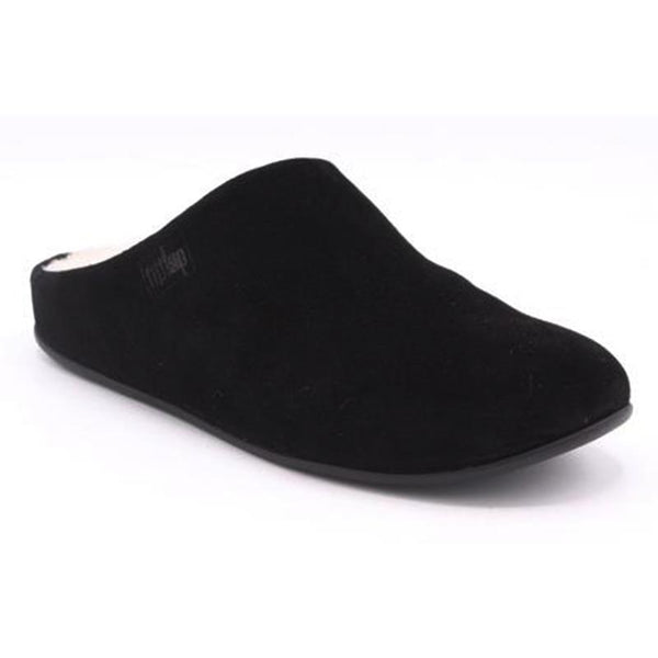 FitFlop Chrissie Suede with Shearling Slipper - Black