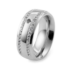 Qudo Basic Lecce Stainless Steel Ring
