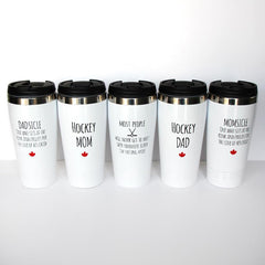 Koppers White Travel Mugs