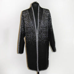 Fashion Outerwear Sparkle Long Sweater Plus Size
